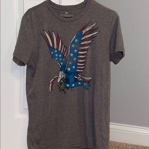 Men's Small American Eagle Patriotic T Shirt